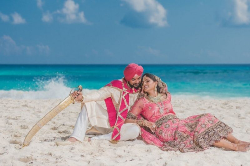 Indian destination wedding at the beach picture
