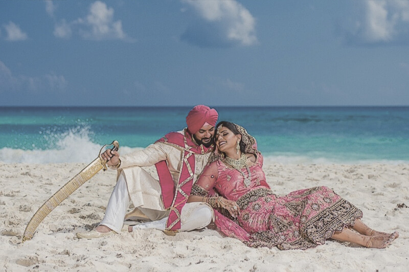Indian destination wedding on the beach