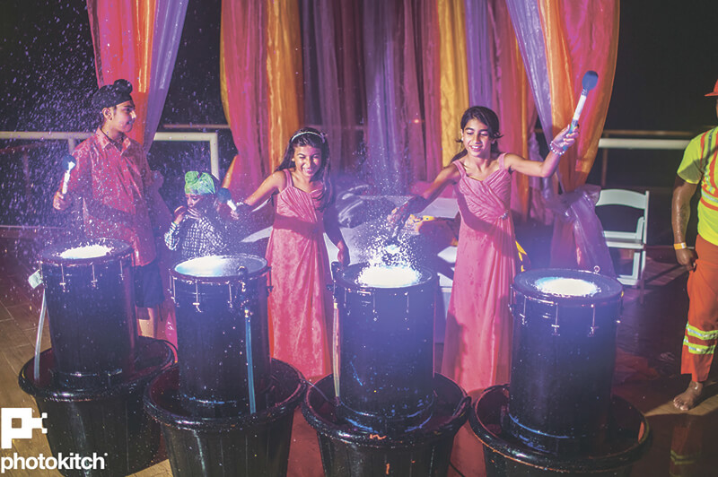 indian destination wedding drummers photo